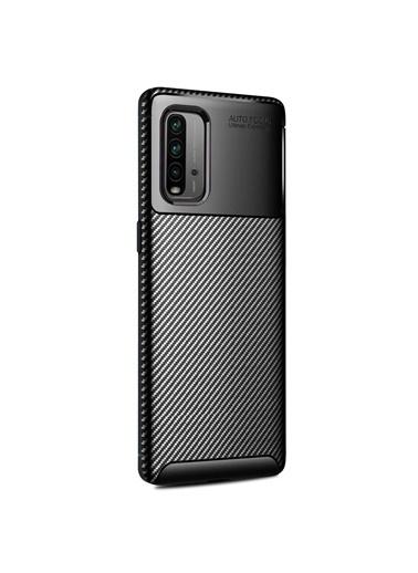 Microsonic Xiaomi Redmi 9T Kılıf Legion Series Kahverengi Siyah